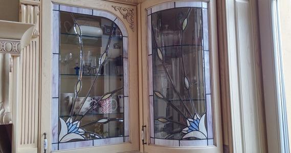 tiffany hajlított csiszolt üveg üvegek